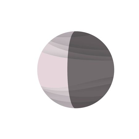 Powdery pink decrease moon icon on white background Stock fotó