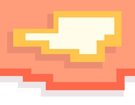Abstract pixel art colorful geometric background, simple style Ilustracja