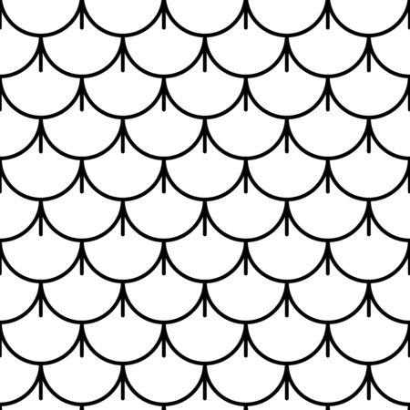 Variation of fishscale seamless pattern, decorative style Archivio Fotografico - 136620071