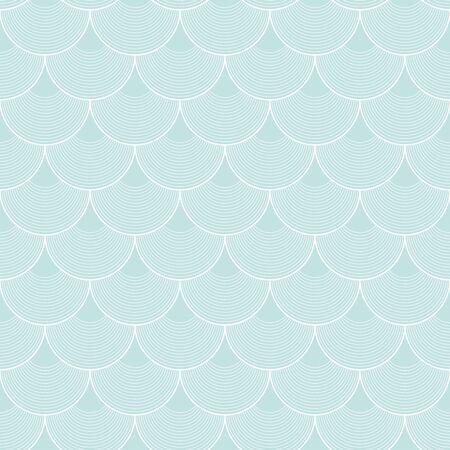 Variation of fishscale seamless pattern, decorative style Archivio Fotografico - 136620108