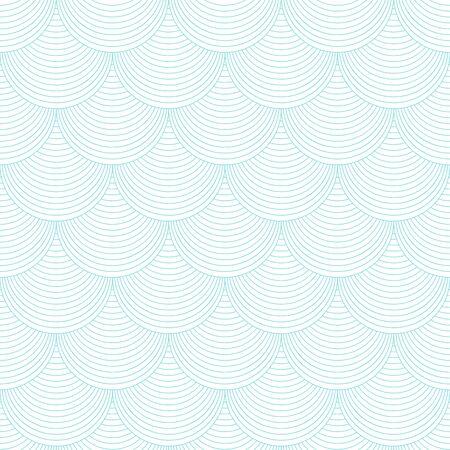 Variation of fishscale seamless pattern, decorative style Archivio Fotografico - 136620127