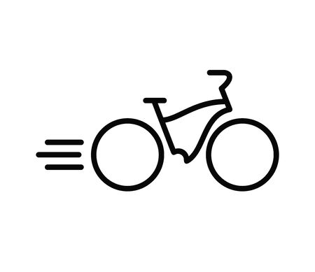 Bike icon, vector illustration in black on white background