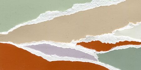 Abstract color paper with torn off background, grunge texture, paper illustration