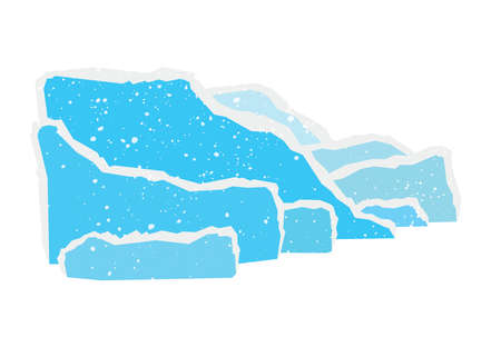 Icebergs, abstract color paper with torn off background Illusztráció