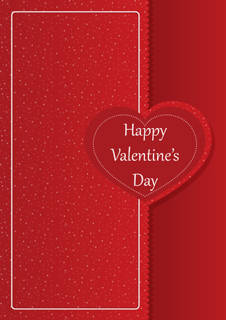 romantic: Happy Valentines day romantic card