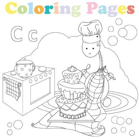 Dibujos Para Colorear Para Niños, Conjunto De Alfabeto, Letra B ...