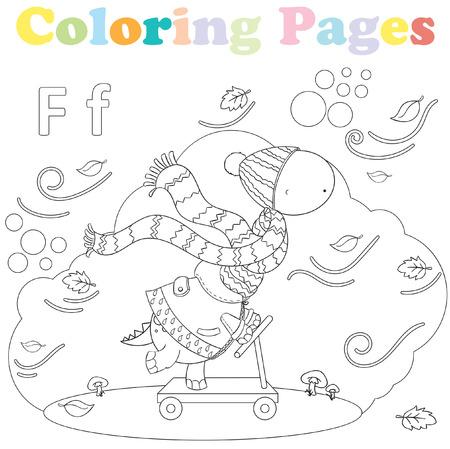 Dibujos Para Colorear Para Niños, Conjunto De Alfabeto, Letra A ...