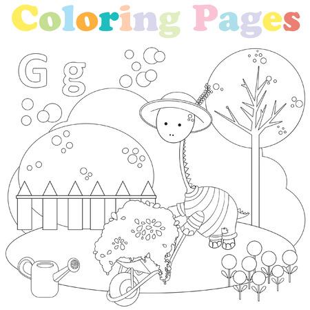 Dibujos Para Colorear Para Niños Conjunto De Alfabeto Letra B
