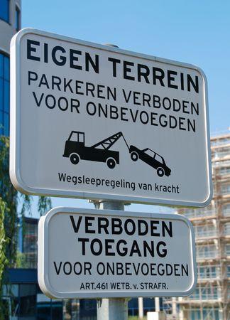 Warning sign property and no access photo