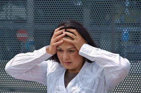 dreadful: Woman surprised or dreadful