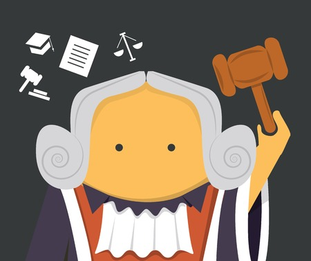 Judge with a hammer Stock Vector - 30489904