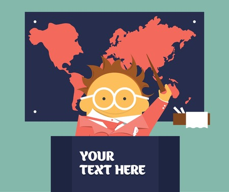 geography: Geography teacher Illustration
