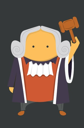 Judge with a hammer Stock Vector - 30676492