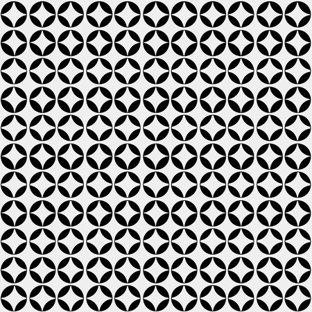 Abstract minimalistic black and white pattern flowers