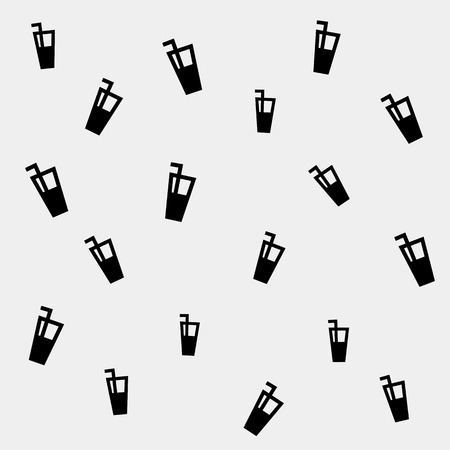 cocktails: Geometric simple monochrome minimalistic vector holiday pattern, cocktails Illustration