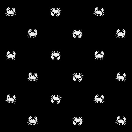 background image: Geometric simple monochrome minimalistic vector marine pattern, crabs