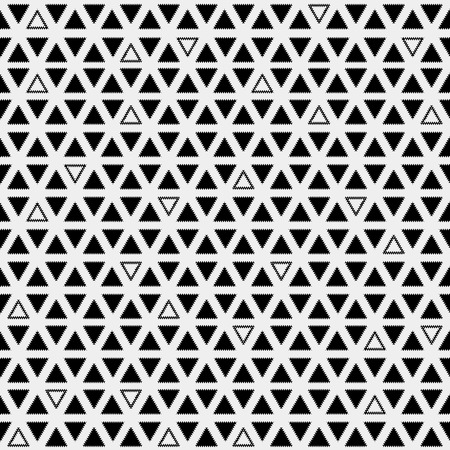 trendy tissue: Pattern monochrome background simple triangle, retro vintage design vector, geometric