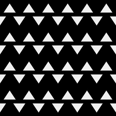 textured backgrounds: Vector seamless pattern. Modern stylish minimalistic monochrome texture. Repeating geometric tiles of rhombuses or triangles Illustration