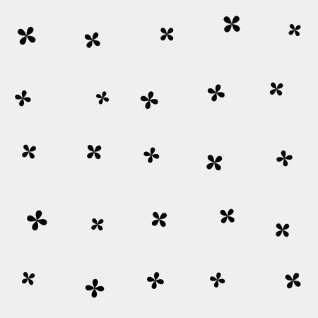 minimalistic: Abstract geometric monochrome pattern minimalistic, stars Illustration