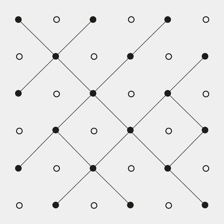 zig zag: Pattern geometric seamless monochrome minimalistic dots, Pattern geometric seamless monochrome minimalistic dots, zig zag lines Illustration