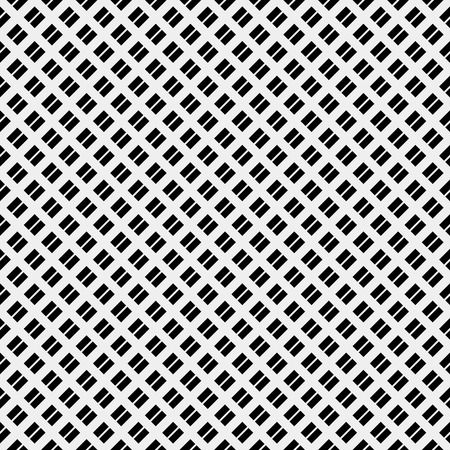 black wall: Vector seamless pattern. Modern stylish texture. Repeating geometric tiles with diagonal lines in monochrome Illustration