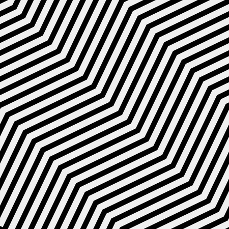 Vector seamless pattern. Modern stylish texture. Repeating geometric tiles with diagonal lines in monochrome Illustration