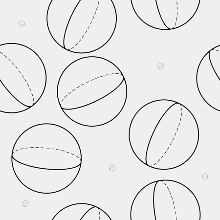 minimalistic: Geometric seamless simple monochrome minimalistic pattern of sphere shapes Illustration