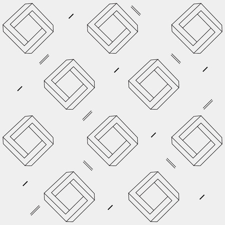 escher: Pattern geometric seamless simple monochrome minimalistic pattern of impossible shapes, rectangles, triangles