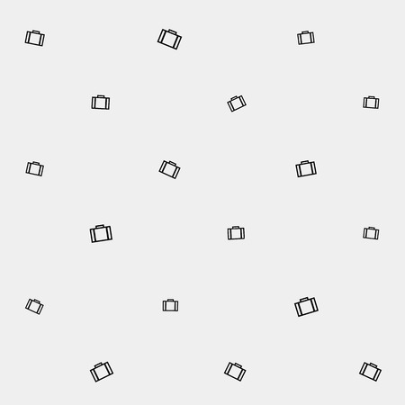 departing: Geometric simple monochrome minimalistic vector holiday pattern, suitcase or bag