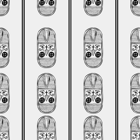 antiquities: Egypt minimal pattern Illustration