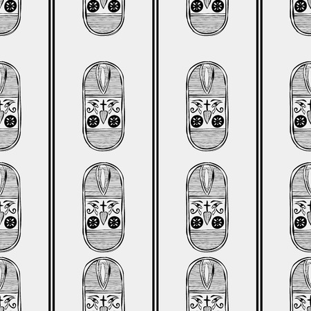 minimal: Egypt minimal pattern Illustration