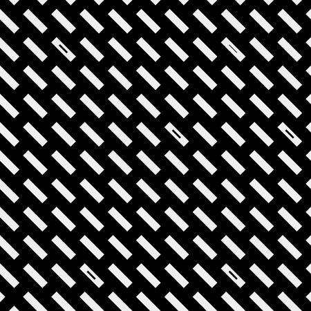 grunge background: Geometric simple black and white minimalistic pattern, diagonal short lines. Can be used as wallpaper, background or texture. Illustration