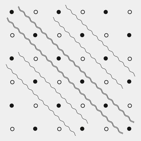 circles pattern: Pattern geometric monochrome minimalistic dots or diagonal lines Illustration