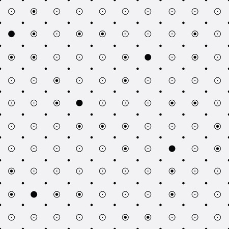 rounds: Vector monochrome minimalistic pattern. Minimalistic style.Repeating geometric tiles rounds, dots