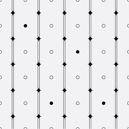 rounds: Vector monochrome minimalistic pattern. Minimalistic style.Repeating geometric tiles rounds, dots, stripes, strokes