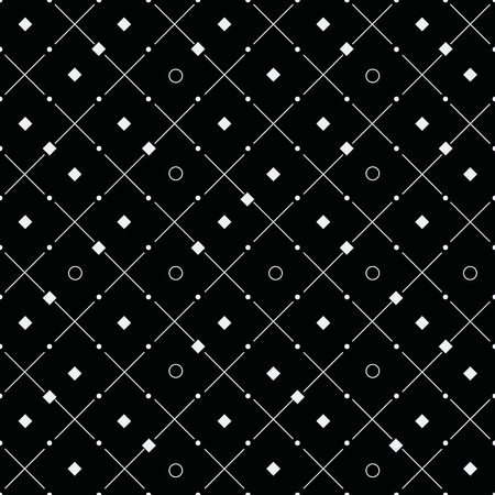 rounds: Vector monochrome minimalistic pattern. Minimalistic style.Repeating geometric tiles rounds, dots, diagonal stripes, strokes Illustration
