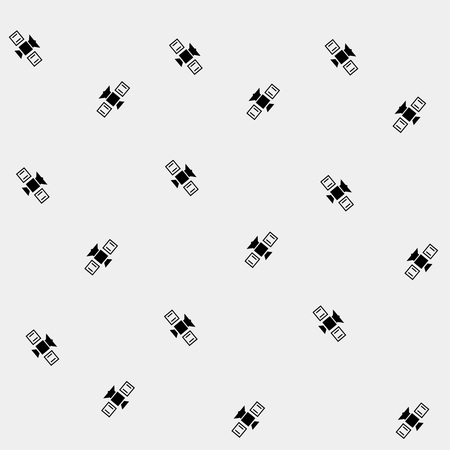 shuttle: Geometric black and white pattern, space, rocket, shuttle, spaceship Illustration