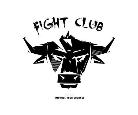 murderer: Black and white monochrome bull emblem