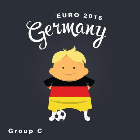 finalist: Euro 2016 championship icon, Germany, group C. Illustration