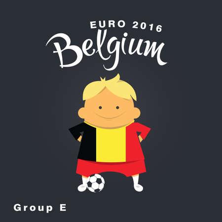 finalist: Euro 2016 championship icon, Belgium, group E. Illustration