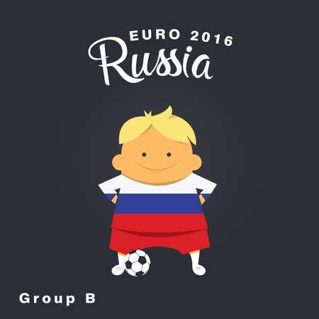 group b: Euro 2016 championship icon, Russia, group B.