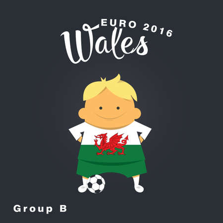 group b: Euro 2016 championship icon, Wales, group B.