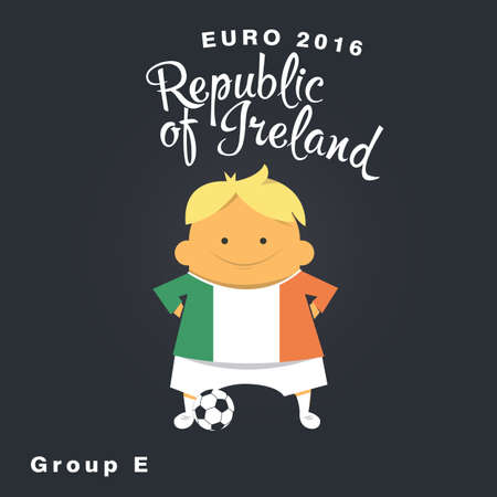 qualified: Euro 2016 championship icon, Republic of Ireland, group E.