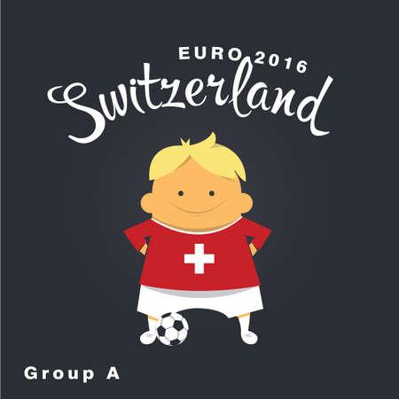 finalist: Euro 2016 championship icon, Switzerland, group A.