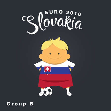 group b: Euro 2016 championship icon, Slovakia, group B. Illustration