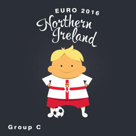 nothern ireland: Euro 2016 championship icon, Nothern Ireland, group C. Illustration