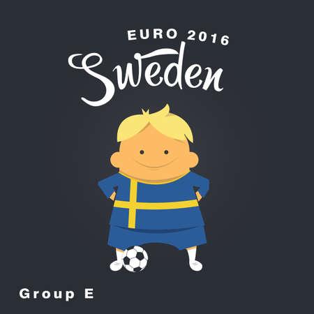 finalist: Euro 2016 championship icon, Sweden, group E. Illustration