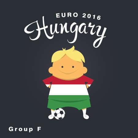 finalist: Euro 2016 championship icon, Hungary, group F. Illustration
