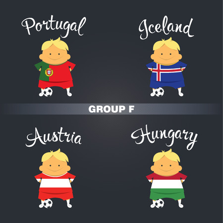 finalist: championship icon, France, group F Illustration