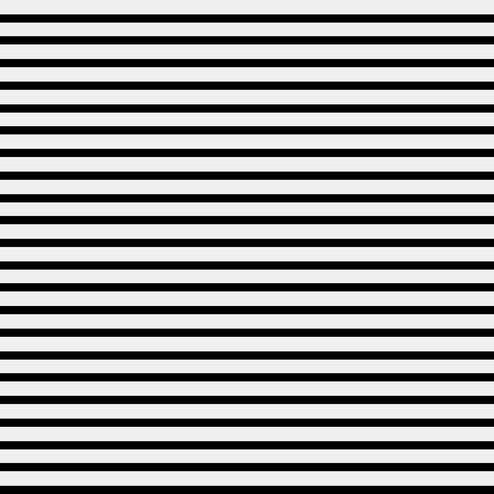 Nahtlose einfache monochrome minimalistische Muster. Gerade horizontale Linien Vektorgrafik